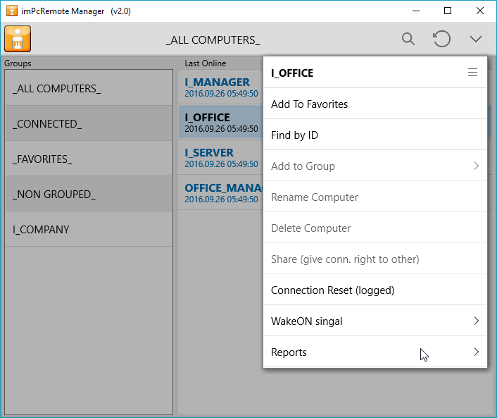 imPcRemote Pro for Mac full screenshot